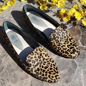 Alfani Leopard Flats Loafers  Haircalf Size 11 M